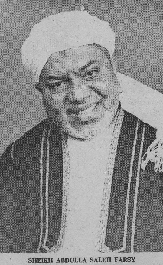 When Sheikh Abdullah Saleh al-Farsy (1912-1982) died on November 9, 1982, he was undisputedly one among the international poets, scholars and Muslim ... - farsy2